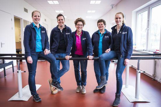 Team fysiotherapie in ZINN locatie De Burcht, Hoogezand